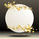 Round banner. With gold stars Royalty Free Stock Image