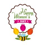 Round banner with the logo . Round banner with the logo for the International Womens. Vector Stock Photography