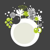 Round banner with spring nature. Royalty Free Stock Photography