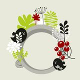 Round banner with spring nature. Stock Images