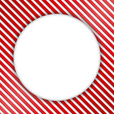 Round Banner on Striped Background Royalty Free Stock Photo