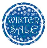 Round banner tag about the winter sale. Vector illustration stock illustration