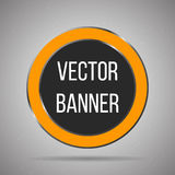 Round  banner white metal frame on a light background. Vector Royalty Free Stock Photo