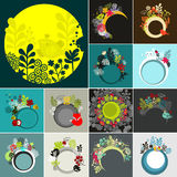 Round banners set. Royalty Free Stock Images