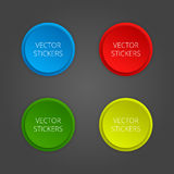 Round banners set. Vector color stickers Stock Image