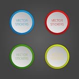 Round banners set. Vector color stickers Royalty Free Stock Photo