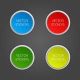 Round banners set. Vector color stickers Royalty Free Stock Photography