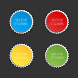 Round banners set. Vector color stickers. Royalty Free Stock Photography