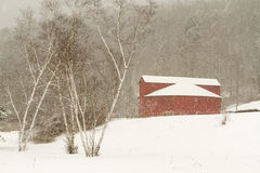 Round Barn in Snow Stock Photos