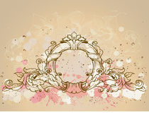 Round baroque frame Royalty Free Stock Photography