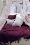 Round bed Stock Images