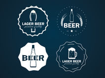 Round beer logos Royalty Free Stock Images