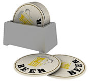 Round beer pads Stock Photo