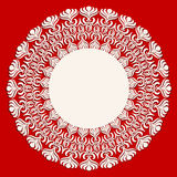 Round beige ornament frame Royalty Free Stock Photo