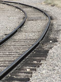 Round the Bend. Curve in track bed of active narrow gauge train system in Colorado royalty free stock photography