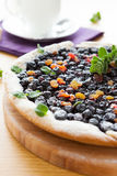 Round berry cake with black currant Royalty Free Stock Images