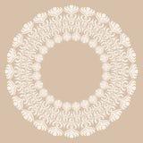 Round biała ornament rama Obrazy Royalty Free