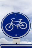 Round bicycle lane sign Royalty Free Stock Photo
