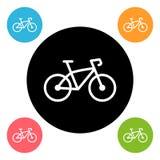 Round bike icon royalty free illustration