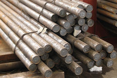 Round billet rods Royalty Free Stock Photography