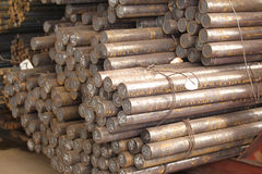 Round billet rods Royalty Free Stock Images