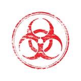 Round Biohazard Symbol Stamp Stock Images