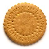 Round biscuit stock image