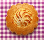 Round biscuit with filling Stock Image