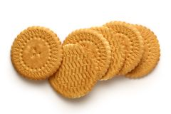 Round biscuits Stock Photo