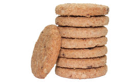 Round biscuits as the tower Stock Images