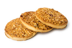 Round biscuits with nuts Royalty Free Stock Photos