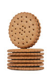 Round biscuits stack royalty free stock photos