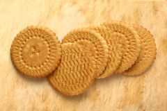 Round biscuits Royalty Free Stock Photo