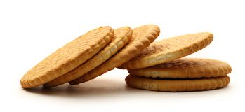 Round biscuits Stock Images