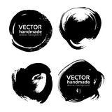 Round black abstract backgrounds smears vector objects Royalty Free Stock Images