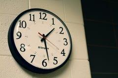 Round Black Analog Wall Clock Royalty Free Stock Photo
