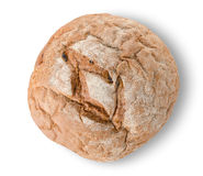 Round black bread. On a white background Stock Photography