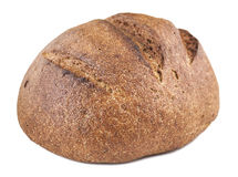 Round black bread. On a white background isolated Royalty Free Stock Photo