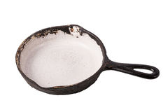 Black cast-iron pan for frying Royalty Free Stock Photos