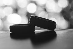 Round Black Container Grayscale Photo royalty free stock images