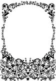 Round black floral frame decoration Stock Photos