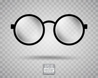 Round black-rimmed glasses Royalty Free Stock Image