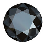 Round black sapphire Royalty Free Stock Images