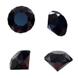 Round black sapphire Royalty Free Stock Photo