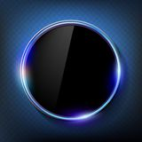 Round black screen on a blue background Royalty Free Stock Image