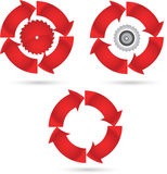 Round blade icon Stock Images