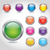 Round blank web buttons Stock Photography