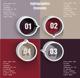 Round blocks with numbers. Royalty Free Stock Images