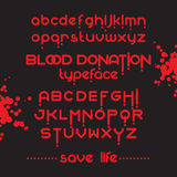 Round Blood Font set Stock Photos