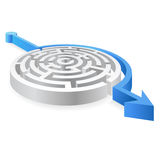 Round Blue Avoided Maze Royalty Free Stock Photos